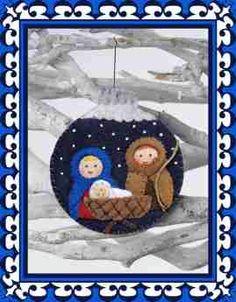 Weihnachtskugel Heilige Familie