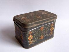 Vintage Metal Tea Container Tin for Home Kitchen by RarityFromAfar