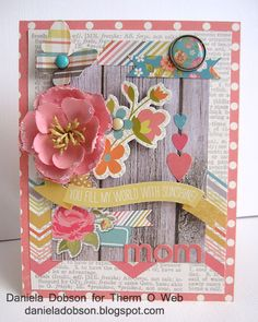 Mom card Therm O Web Simple Stories Vintage Bliss by Daniela Dobson