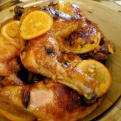 Narancsos-gyömbéres csirkecomb