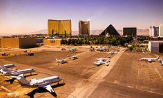 LAS VEGAS,NEVADA MCCARRAN AIRPORT | Aerial view, McCarran International Airport, Las Vegas, Nevada USA