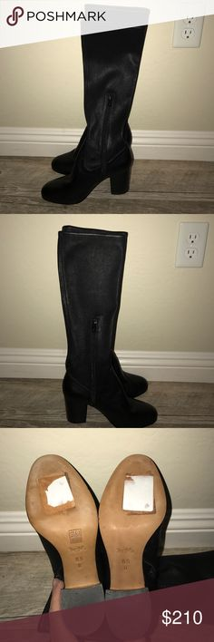 """COACH BERGEN BOOTS! ABSOLUTELY STUNNING!  NWOT Butter soft leather!  3"""" heel.  15.5 shaft.   13.5 circumference. Coach Shoes Heeled Boots"""