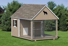 Outdoor Dog Kennels for Sale | Dog Kennels :: Dog Kennel (10' Wide) - Amish Backyard Structures