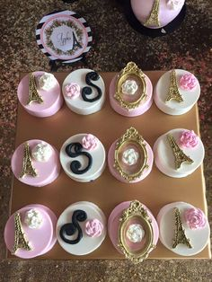 Chocolate Oreos at a Paris birthday party! See more party planning ideas at CatchMyParty.com!