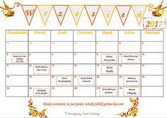 Kalendarz klasowy z zaznaczonymi świętami, nawet tymi nietypowymi :) stanowi kolejny element wystroju klasy. Są w nim także strony, na których umieścimy nasze