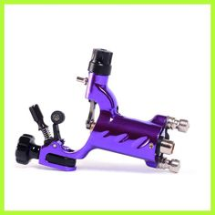 purple Dragonfly Rotary Tattoo Machine Shader Liner New Design clip cord Tatoo Motor Gun Kit for Artists maquinas de tatuajes