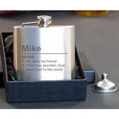 Engraved Definition Hip Flask