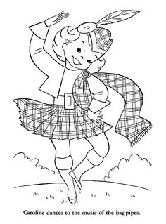 print scotland and robbie burns coloring pages