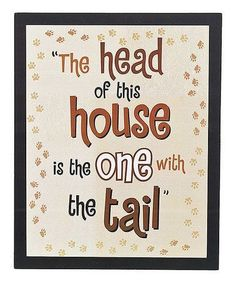 Look what I found on #zulily! 'Head of House' Wall Plaque #zulilyfinds