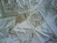 Custom Wedding Dress Quilt, 48x56 -  Your Dress, Your Dreams, Made Into a Family Heirloom