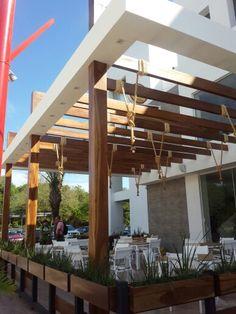 Tajibo wood pergola La Cabelleriza- ventura Mall