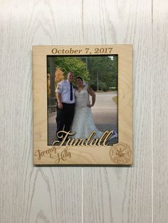Personalized Names Mr & Mrs Picture Frame Wedding Gift or Newlywed Couple Custom Fireman, Marines Engraved Wooden Frame with Last Name Date Wedding Gifts For Newlyweds, Newlywed Gifts, Wedding Picture Frames, Wedding Frames, Engraved Wood Signs, Reception Signs, Rustic Wedding Signs, Mr Mrs, Custom Framing