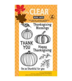 Hero Arts Thankful For You Clear Stamps