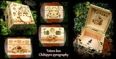 Tonari No Totoro wooden box by ChibiPyro.deviantart.com on @DeviantArt