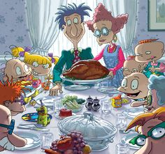 Rugrats version of a Norman Rockwell Thanksgiving. Rugrats Cartoon, 90s Cartoons, Cute Cartoon, 90s Childhood, Childhood Memories, Cartoon Shows, Cartoon Characters, Geeks, Rugrats All Grown Up