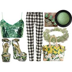 """Green Frenzy"" by ajgarcia on Polyvore"