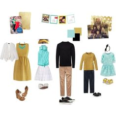 Get ideas and inspiration on what to wear for your family photos this year! #modern #peartreegreetings