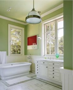 Houzz bathroom colors - home design inspiration Light Green Bathrooms, White Bathroom, Modern Bathroom, Bathroom Green, Industrial Bathroom, Minimalist Bathroom, Italian Bathroom, Bathroom Marble, Small Bathrooms