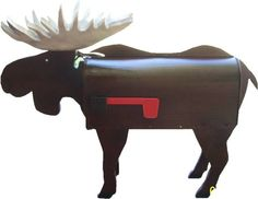 moose-mailbox ~ My new mailbox to be located in The Historic District of Vermont!    ........