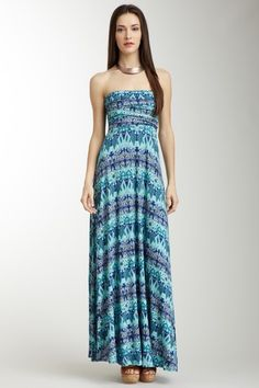 Printed Pleated Maxi by Classique on @HauteLook