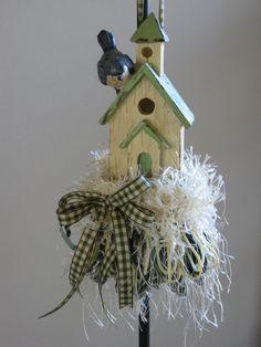 Bluebird Birdhouse Decorative Tassel by ThePennyTassel on Etsy, $28.00