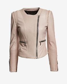 Barbara Bui EXCLUSIVE Collarless Stud Leather Jacket #INTERMIX #SWEEPSTAKES