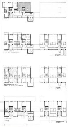 Peabody Terrace / Sert, Jackson & Gourley. Misma distribución que Greco, pero sin corredor