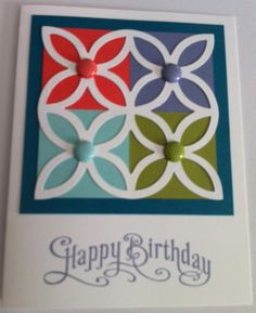 Lattice die + In-colors  STampin Up