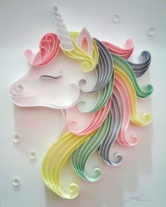 Paper quilling designsPaper quilling hard to believe that this beautiful unicorn is made of paper - Activite Man hard to believe that this beautiful unicorn is made of paper - Activite Man . Paper Quilling Patterns, Quilled Paper Art, Quilling Paper Craft, Quilling Ideas, Quiling Paper, Quilling Tutorial, Toilet Paper Roll Crafts, Paper Crafts, Quilled Creations
