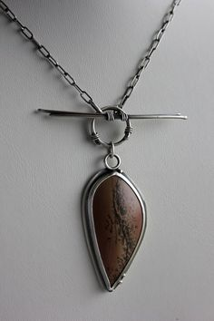 Rochelle Darrow: paintbrush stone and sterling pendant