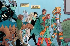 Runaways Comic, Runaways Marvel, Running Away, Comic Books, Comics, Art, Art Background, Kunst, Cartoons