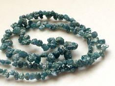 Blue Rough Diamond Briolettes Natural Diamond by gemsforjewels