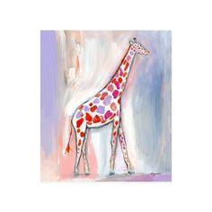Wild Watercolor Canvas Wall Art (Giraffe)   The Land of Nod