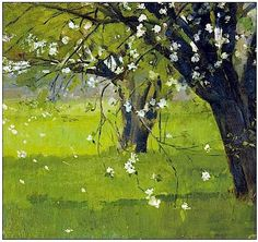 Theodore Robinson (USA 1852-1896) Tree Blossoms (n.d.)