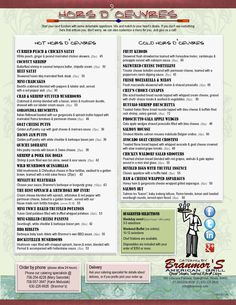 2012 Catering - Hors d'Oeuvres Menu | Branmor's American Grill