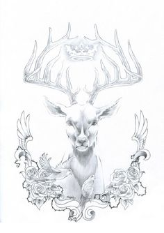 tatouage cerf loup - Recherche Google