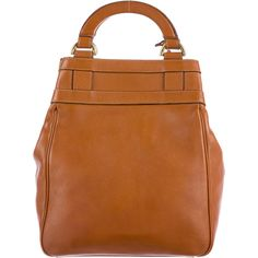 Pre-owned Delvaux Leather Satchel ($390) ❤ liked on Polyvore featuring bags, handbags, brown, genuine leather handbags, leather satchel purse, brown leather purse, leather purses and handbag purse