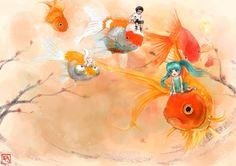 Goldfish Dream by ~Kwonchanji on deviantART