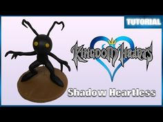 Kingdom Hearts Shadow Heartless polymer clay tutorial