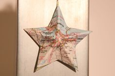 Norfolk, Virginia Beach - Vintage Map Covered Star Ornament - Virginia, Home Decor, East Coast, 3 Dimensional, Christmas, Tree by CaffeinatedSquirrel on Etsy