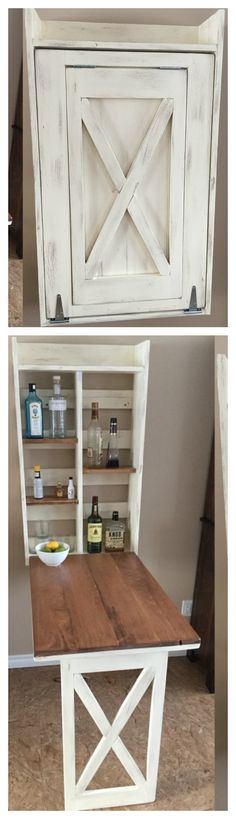 Ana White | Drop down murphy bar - DIY Projects