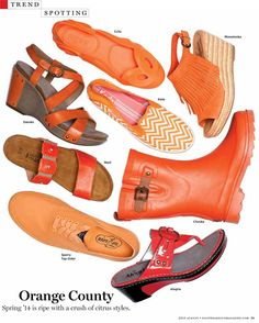 Naot Women's Ashley from the Elegant Collection in the August 2013 edition of Footwear Plus! #Naot #Ashley #Elegant #Orange #Sandals | Naot shoes are available at www.TheShoeMart.com #TheShoeMart.