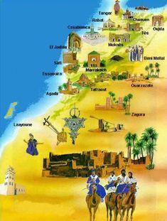 Maroc  Carte postale monuments Maroc  sur carte-du-monde.net