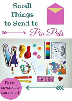Small gifts that fit in an envelope - perfect for pen pals!