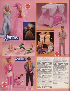 Take a blast into the past of retro goodness with this wonderful scan photostream of the entire 1986 Argos Catalog. From vintage toys, to vintage duvets, cooking tools. Take a look back to a more funky time. Vintage Toys 80s, Vintage Barbie Dolls, Retro Toys, Childhood Toys, Childhood Memories, Dolls From The 80s, 1980s Barbie, Mattel Barbie, Barbie Dream