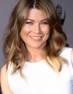 Ellen Pompeo. Love her hair color!