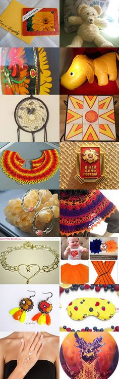 Red and Orange by Nadia Morgan on Etsy--Pinned with TreasuryPin.com #Etsyvintage #Estyhandmade #freshfinds
