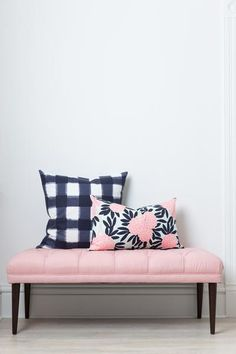 Zoe Bench - the perfect pink bench from Caitlin Wilson Design