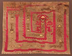 Alpaca wool and cotton tapestry depicting a fish trap, Chimu Culture, Lambayeque, Northern Coast Peru, circa 400 – 900 AD. 90 x 114 cm. Kapil Jariwala