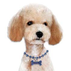 Crystal Bone Small Dog Necklace